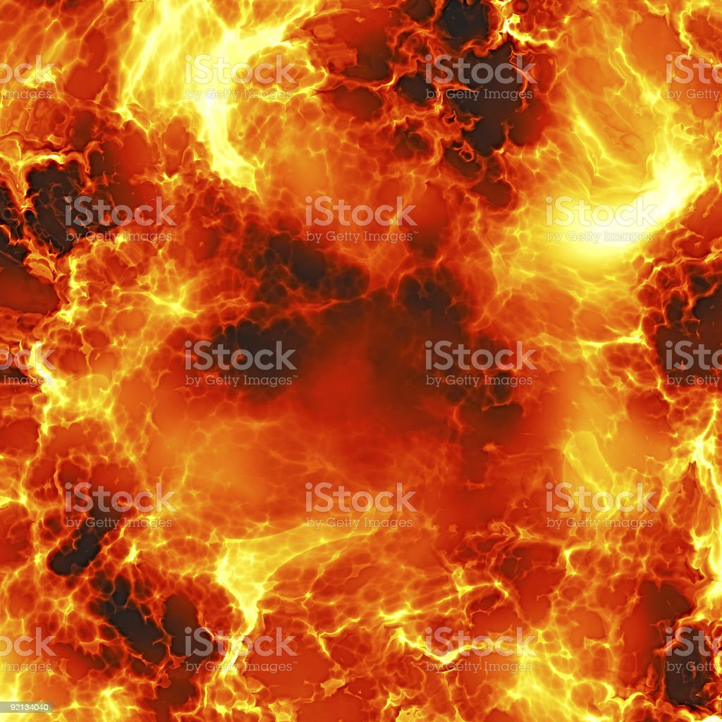 A giant explosion full of hot lava royalty-free stock photo