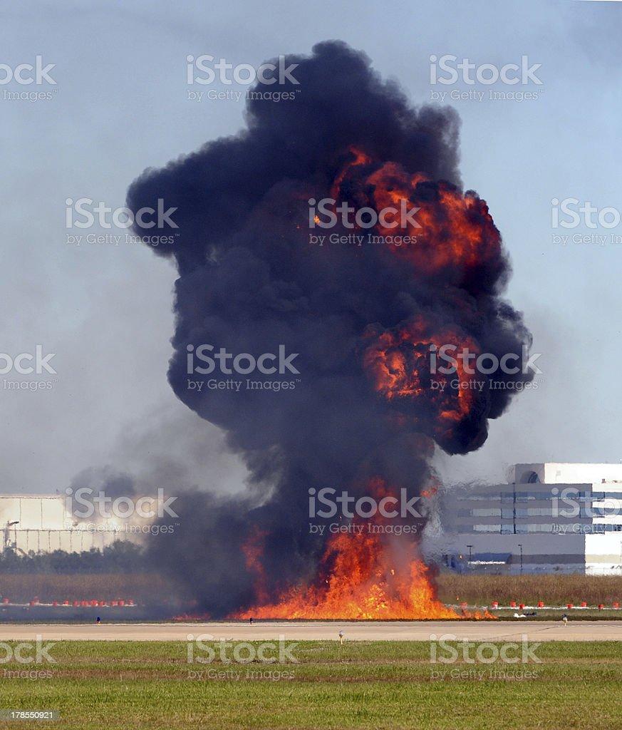 Giant explosion royalty-free stock photo