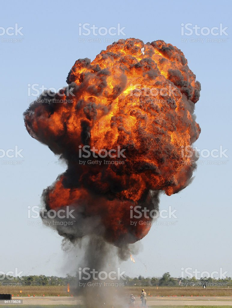 Giant explosion royalty-free stock photo