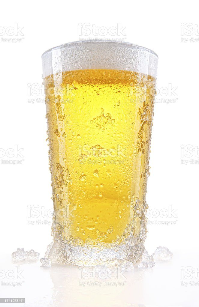 Giant Frosty Pint of Beer stock photo