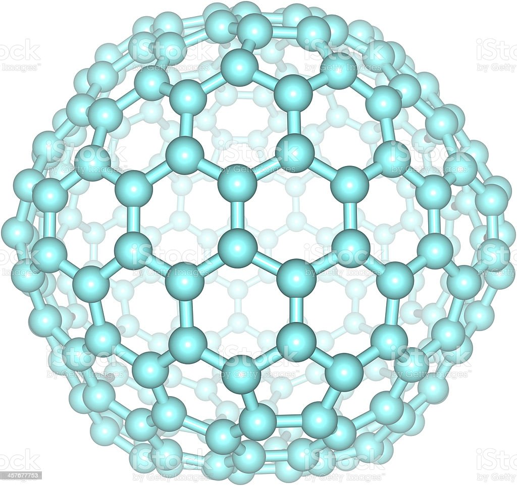 Giant fullerene molecule C240 stock photo