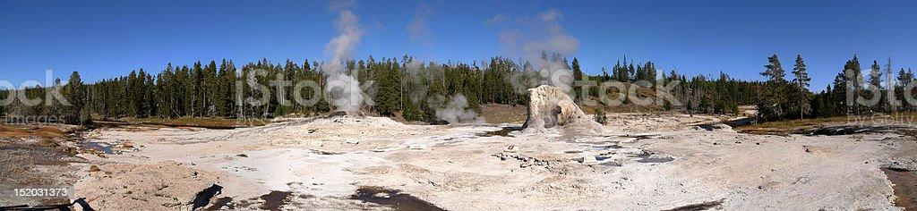 Giant geyser, Yellowstone National Park stock photo
