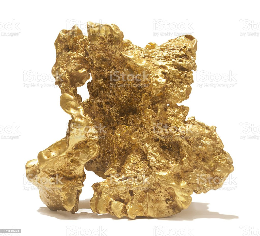 Giant gold nugget stock photo
