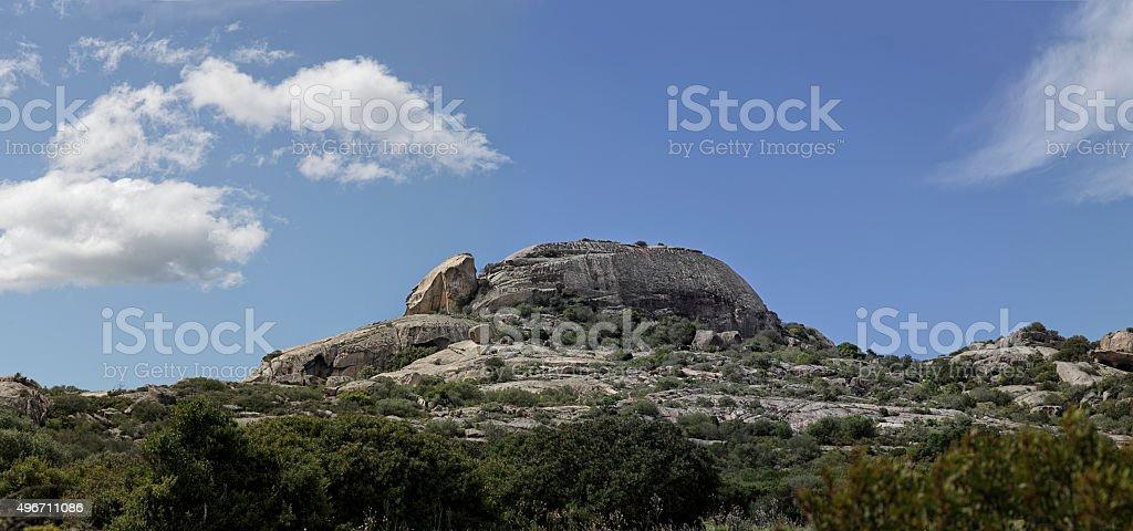Giant granite stone stock photo