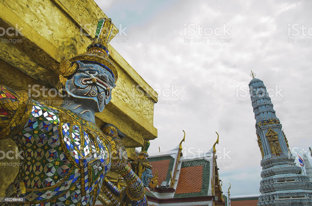 Giant Guardian in Grand Palace, Bangkok, Thailand royalty-free stock photo