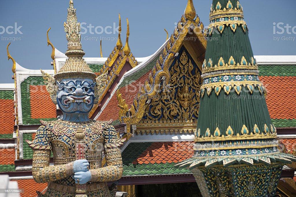 Giant Guardians From Wat Pho, Bangkok, Thailand (XXXL) royalty-free stock photo
