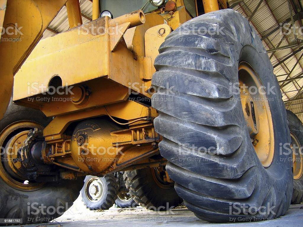 Giant Harvesting Machine royalty-free stock photo