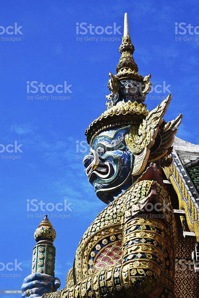 Giant in Front of Wat Phra Kaew Gate Bangkok, Thailand stock photo