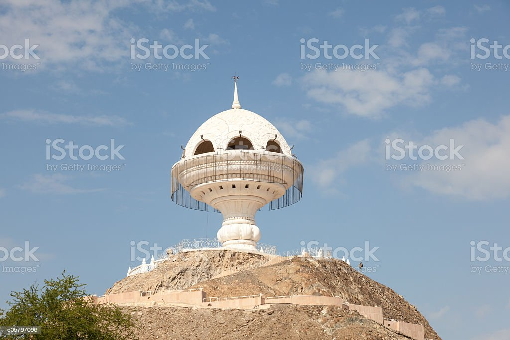 Giant incense burner in Muscat, Oman stock photo
