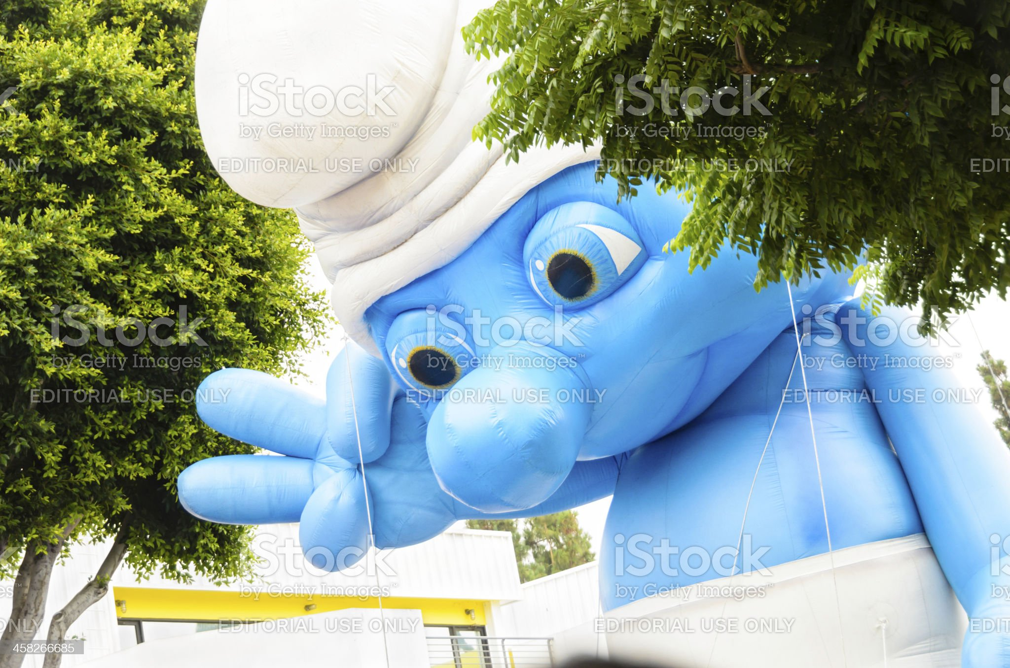 Giant Inflatable Puppet at 'The Smurfs 2' World Premiere royalty-free stock photo
