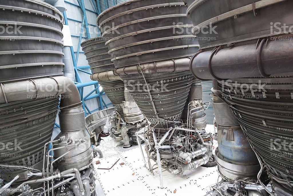 Giant jet engines royalty-free stock photo
