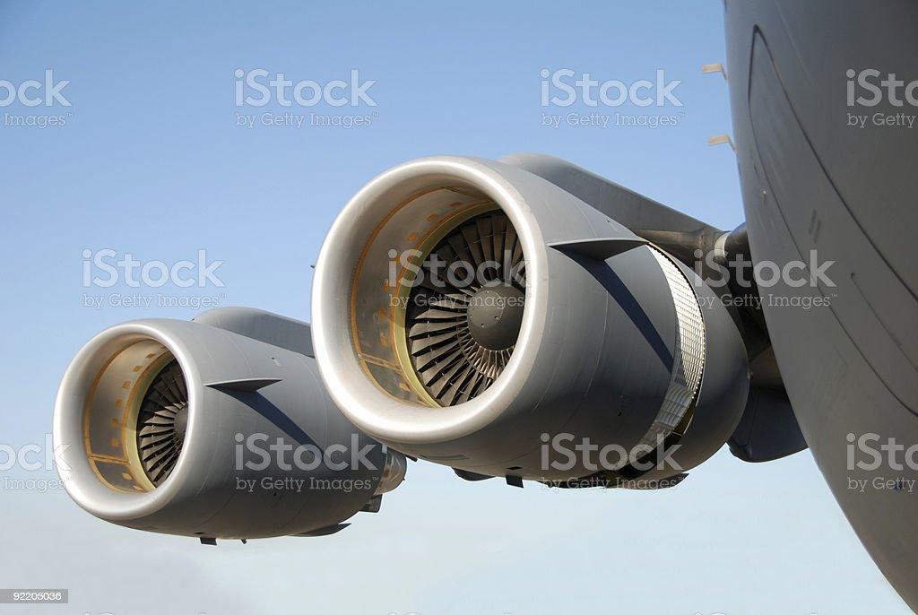 Giant jet engines stock photo