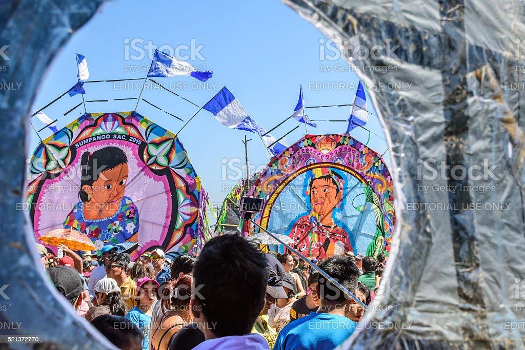 Giant kite festival, All Saints' Day, Guatemala stock photo