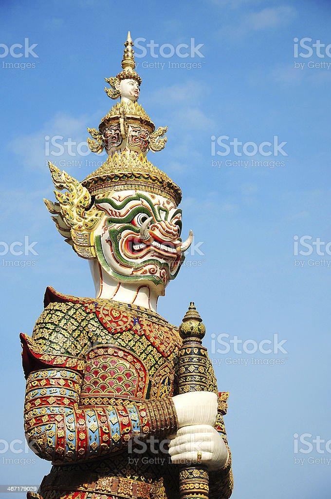 Giant of Wat Phra Kaew, Bangkok Thailand stock photo