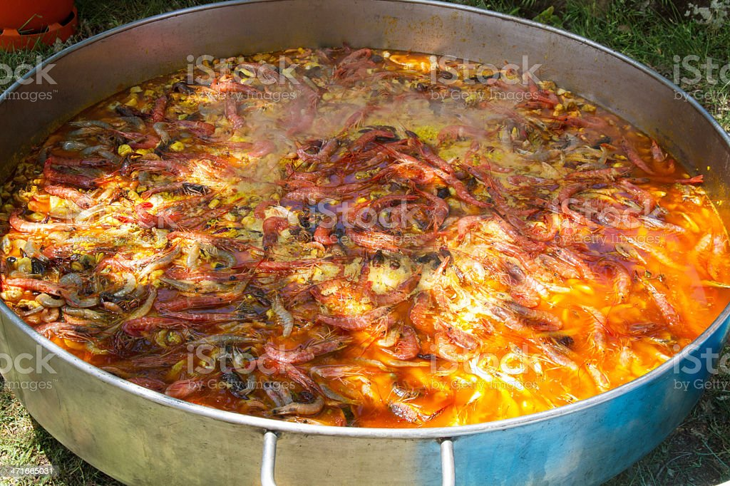 Giant paella - Gran cacerola royalty-free stock photo