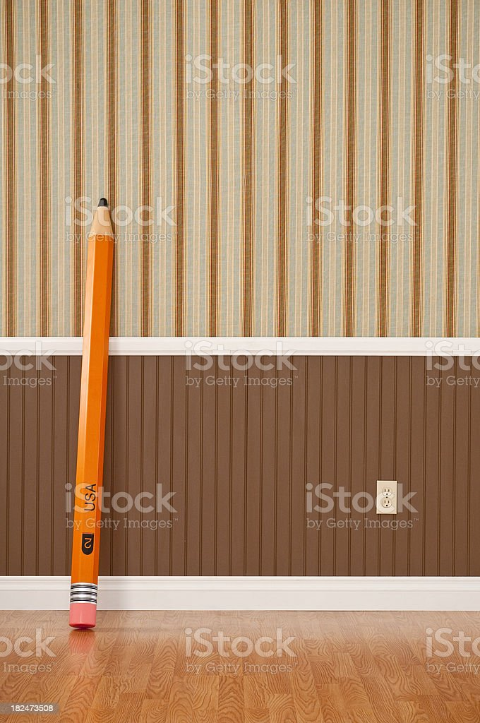 Giant Pencil royalty-free stock photo