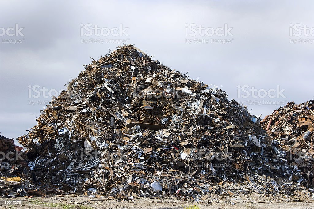 Giant pile of scrap royalty-free stock photo