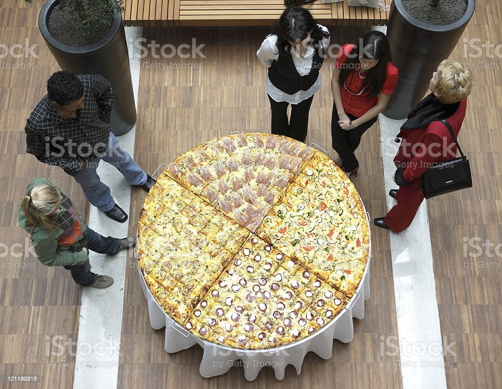 Giant Pizza royalty-free stock photo