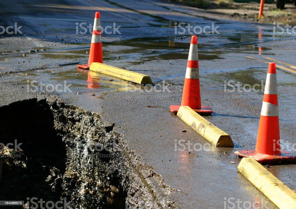 Giant pothole stock photo