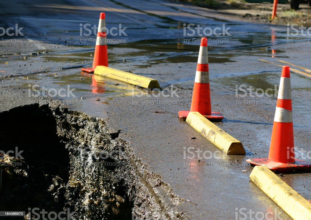 Giant pothole stock photo