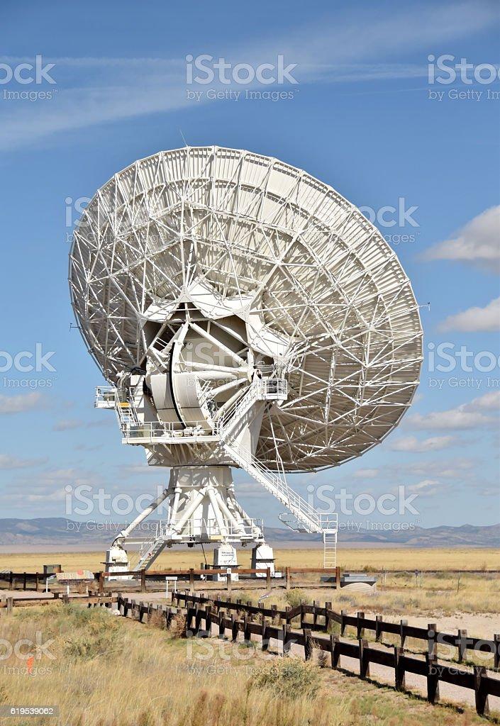Giant radiotelescope dish stock photo