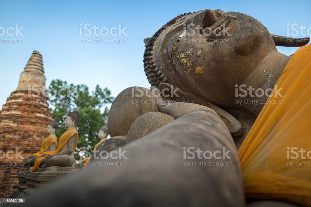 Giant reclinning Buddha stock photo
