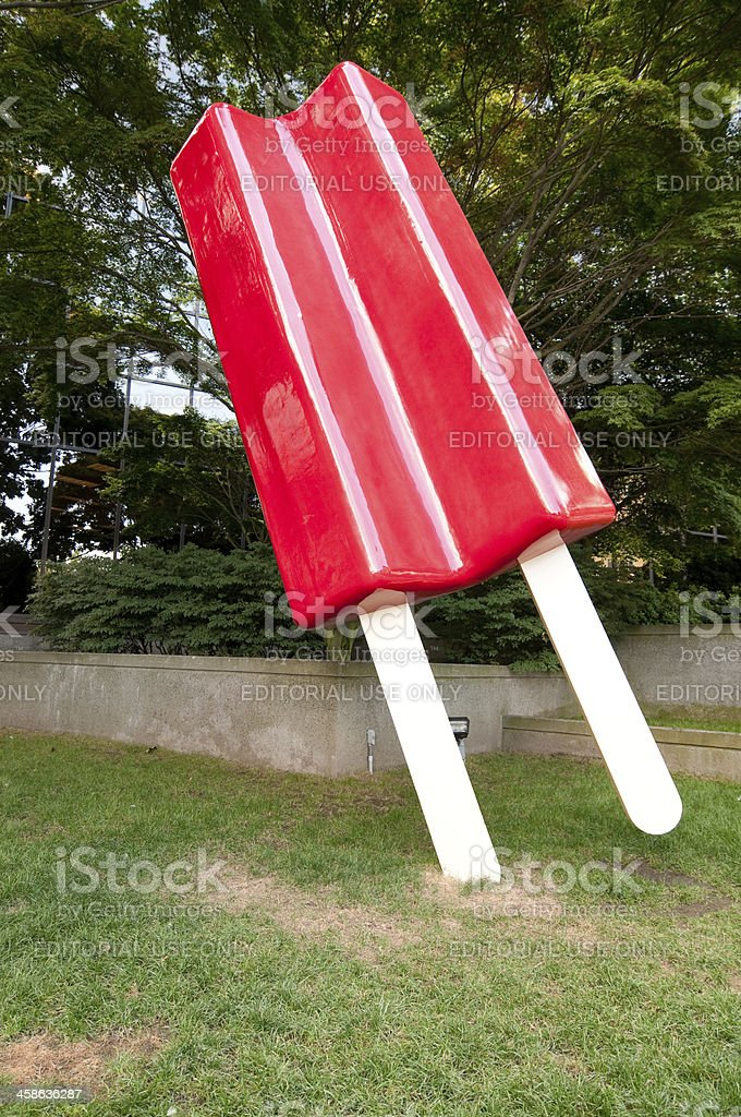 Giant Red Popsicle stock photo