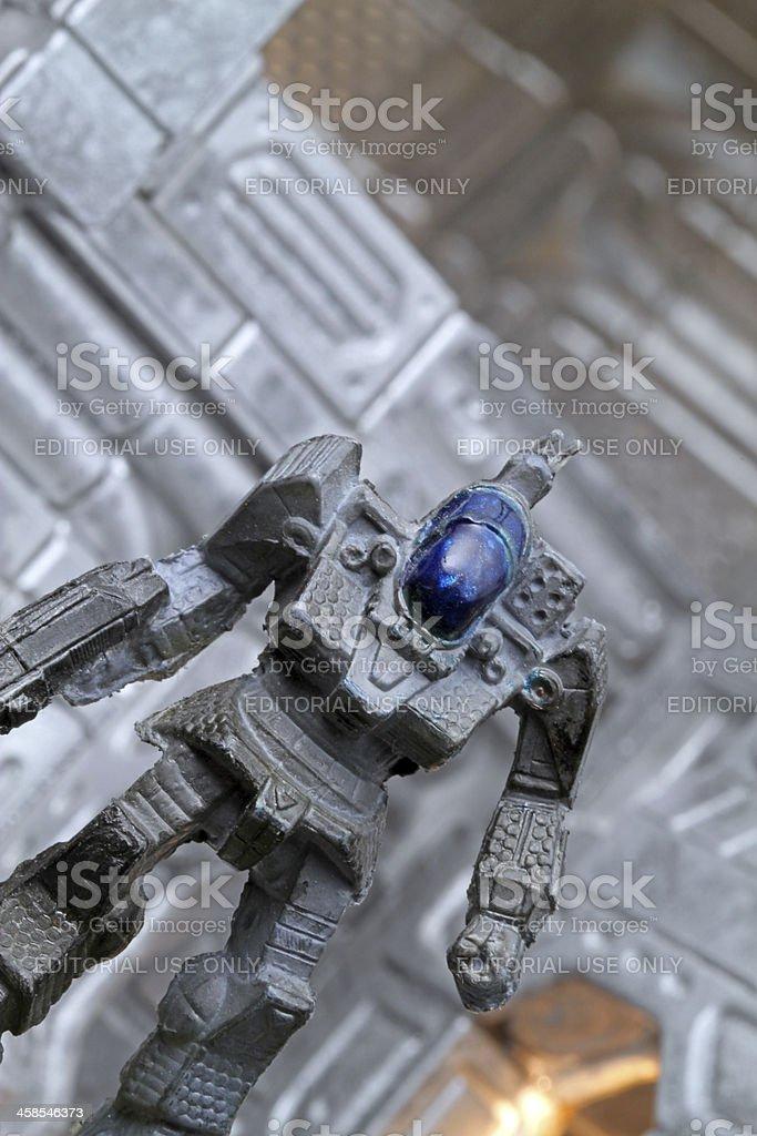 Giant Robot Prepares for Battle royalty-free stock photo