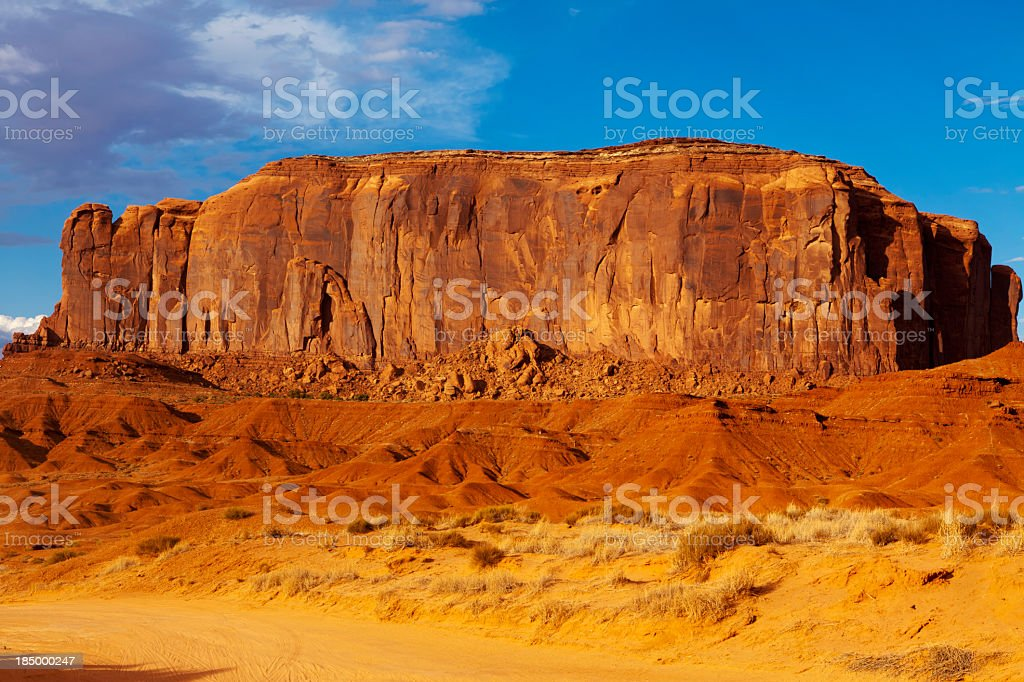 Giant rock formation of Monument Valley, Navajo Tribal Park stock photo