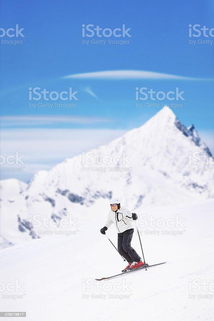Giant slalom race - Snow Skiing stock photo