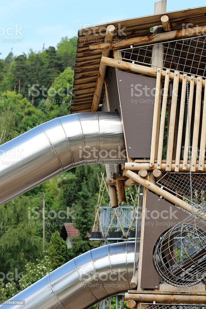 Giant slide stock photo