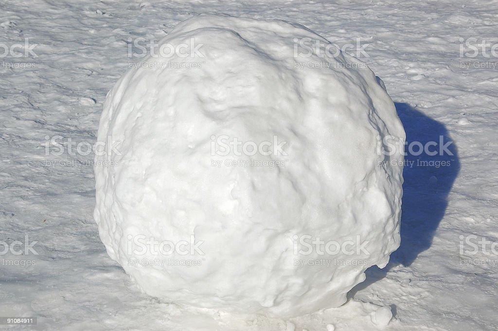Giant Snowball stock photo