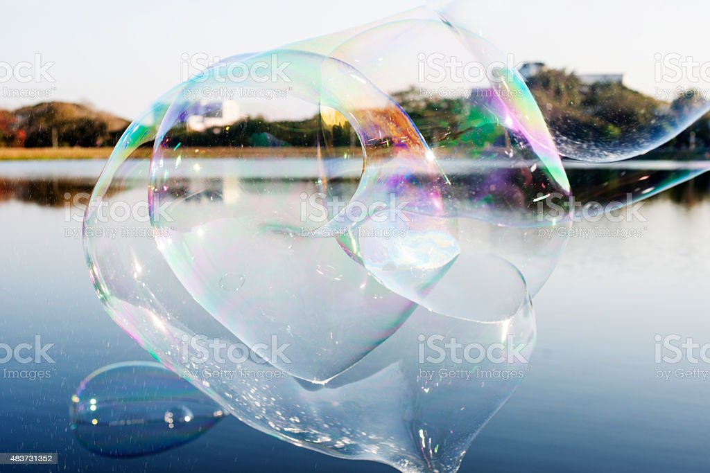 Giant Soap Bubbles stock photo