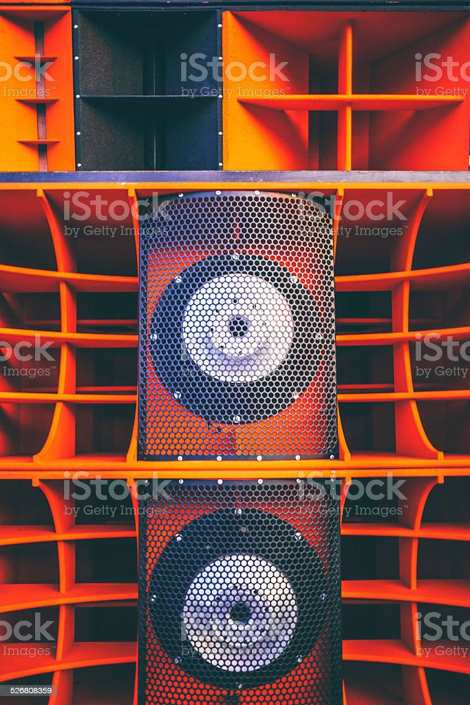 Giant speakers. stock photo