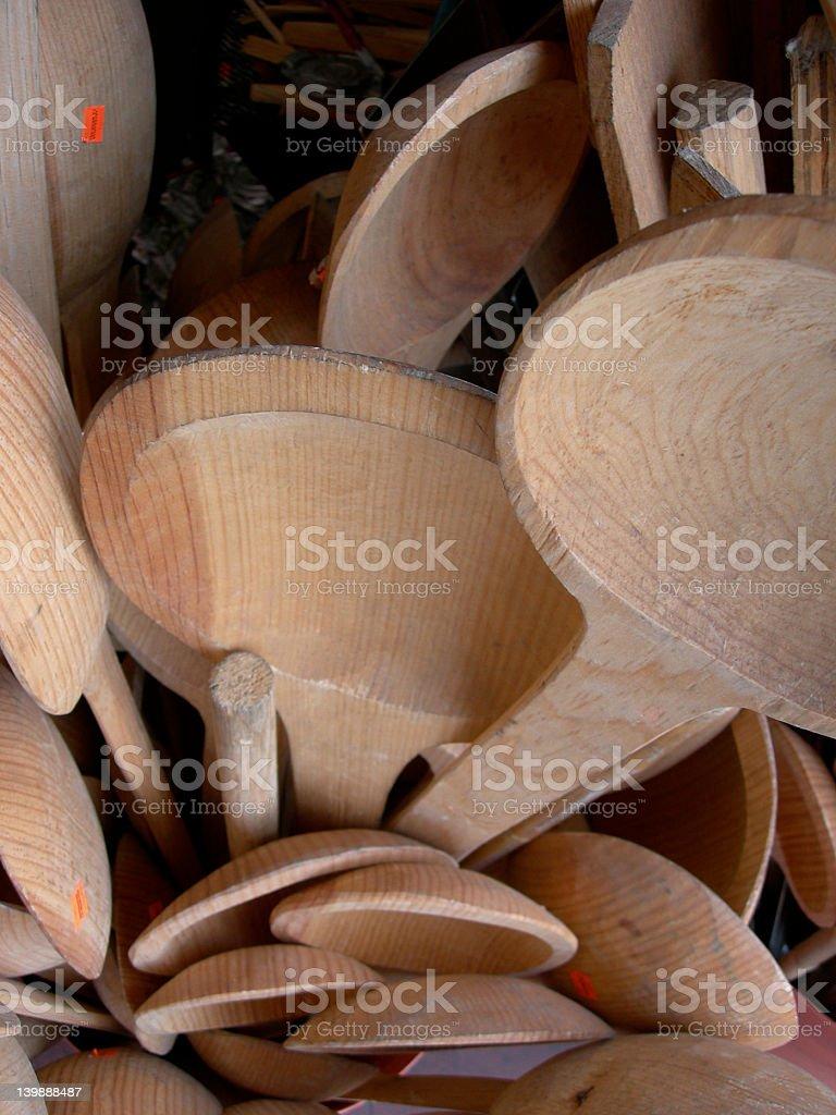 Giant Spoons royalty-free stock photo