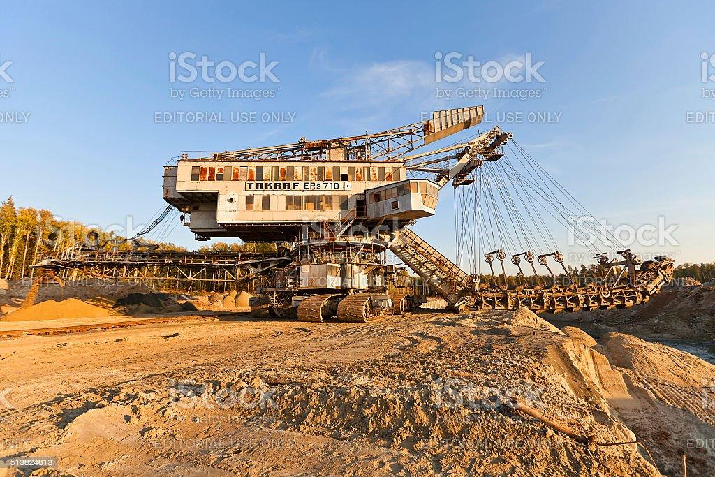 Giant stacker (absetzer) Takraf Ers 710 stock photo