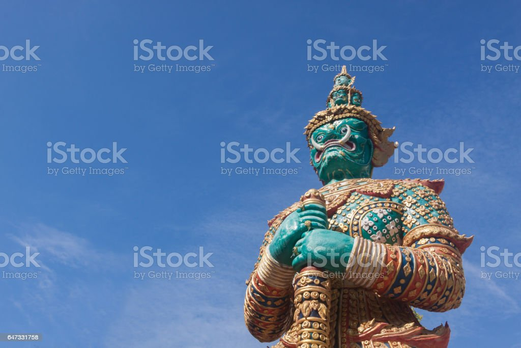 Giant Statue and blue sky. stock photo