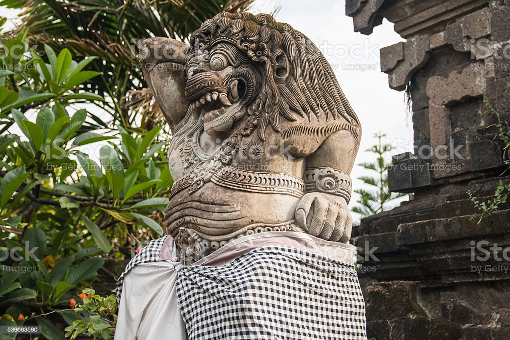 Giant statue at Bali stock photo