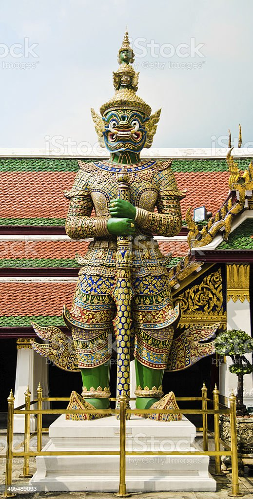 Giant statue in Thai style royalty-free stock photo