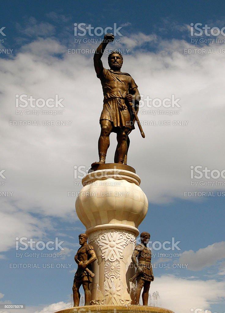Giant Statue of Philip of Macedon stock photo