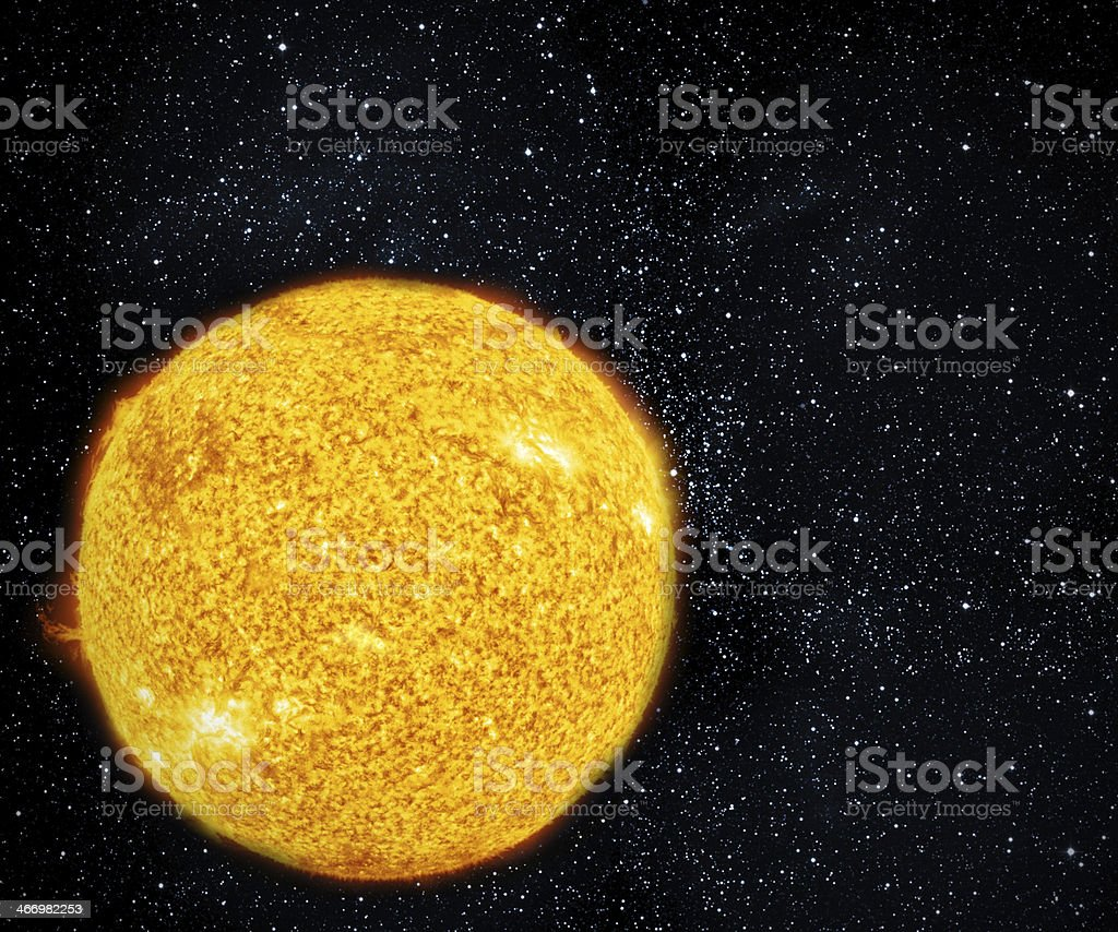 Giant sun. royalty-free stock photo
