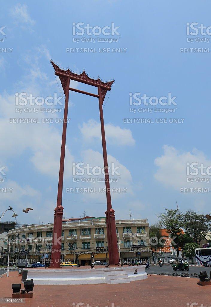 Giant swing Bangkok Thailand stock photo