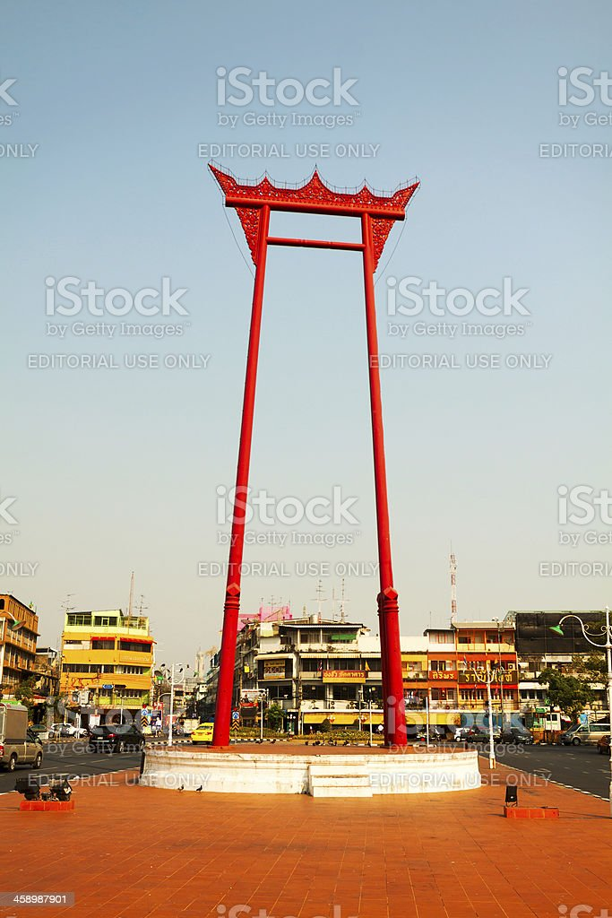 Giant Swing of Bangkok royalty-free stock photo