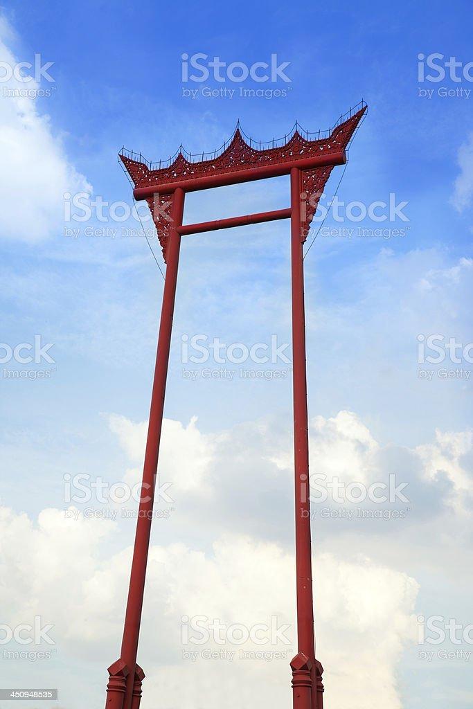 Giant Swing or Sao Ching Cha, Thailand. Landmark of Bangkok. stock photo