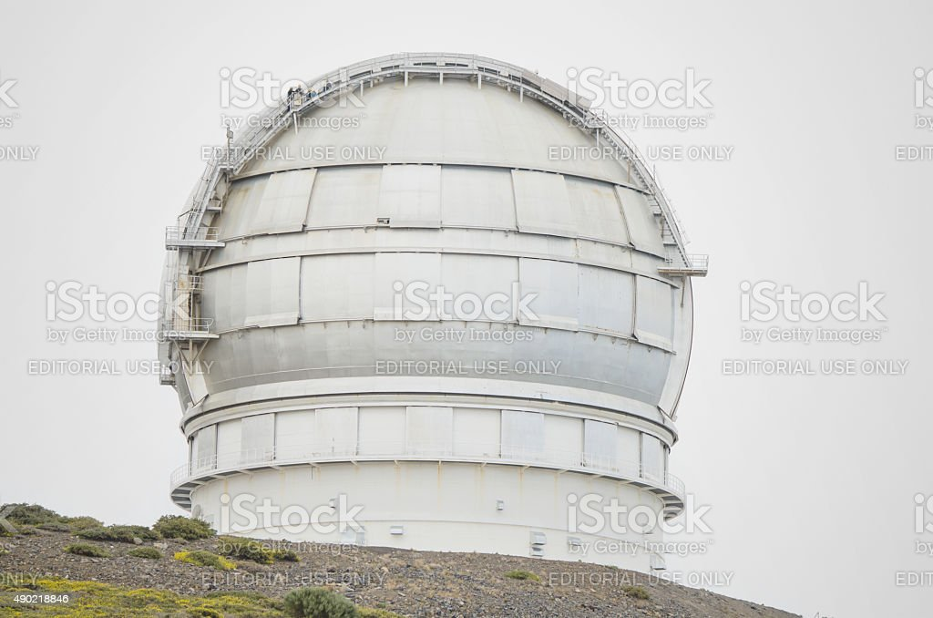 Giant telescope GTC 10 meters  La Palma, Canary island, Spain. stock photo