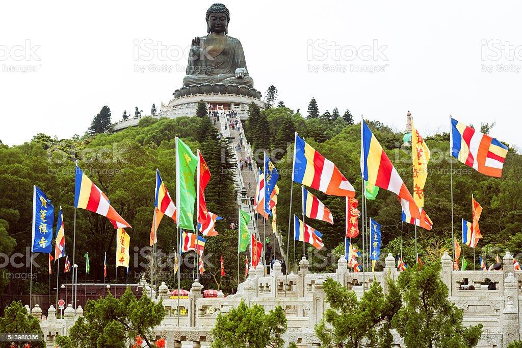 Giant Tian Tan Buddha, Lantau Island, Hong Kong,China stock photo