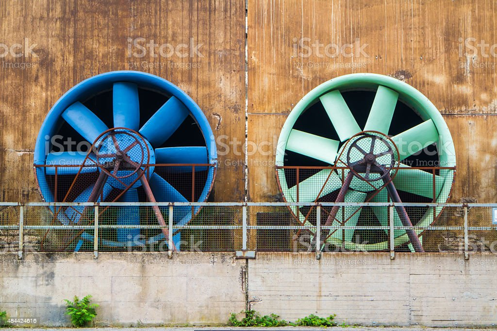 Giant ventilation system stock photo