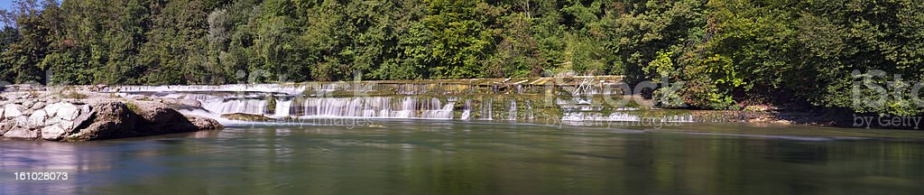 Giant waterfall at river Alz, Bavaria royalty-free stock photo
