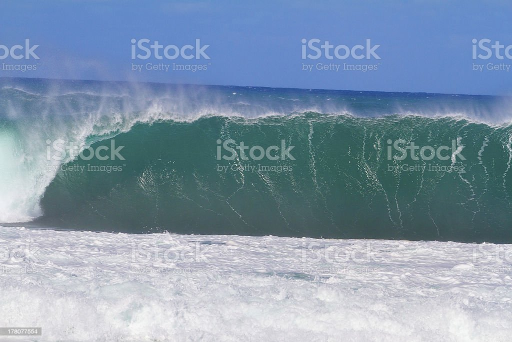 Giant Wave Break in Hawaii royalty-free stock photo
