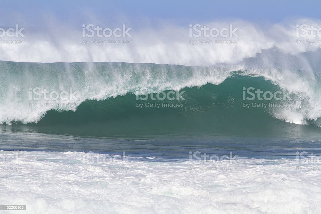 Giant Wave Break in Hawaii royalty-free stock photo